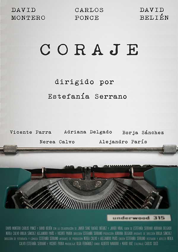 """Cartel del cortometraje """"Coraje"""""""