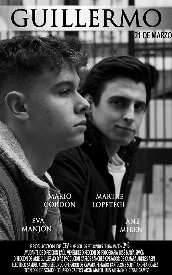 Cartel cortometraje Guillermo
