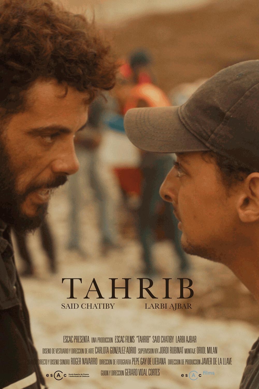 """Cartel cortometraje """"Tahrib"""""""