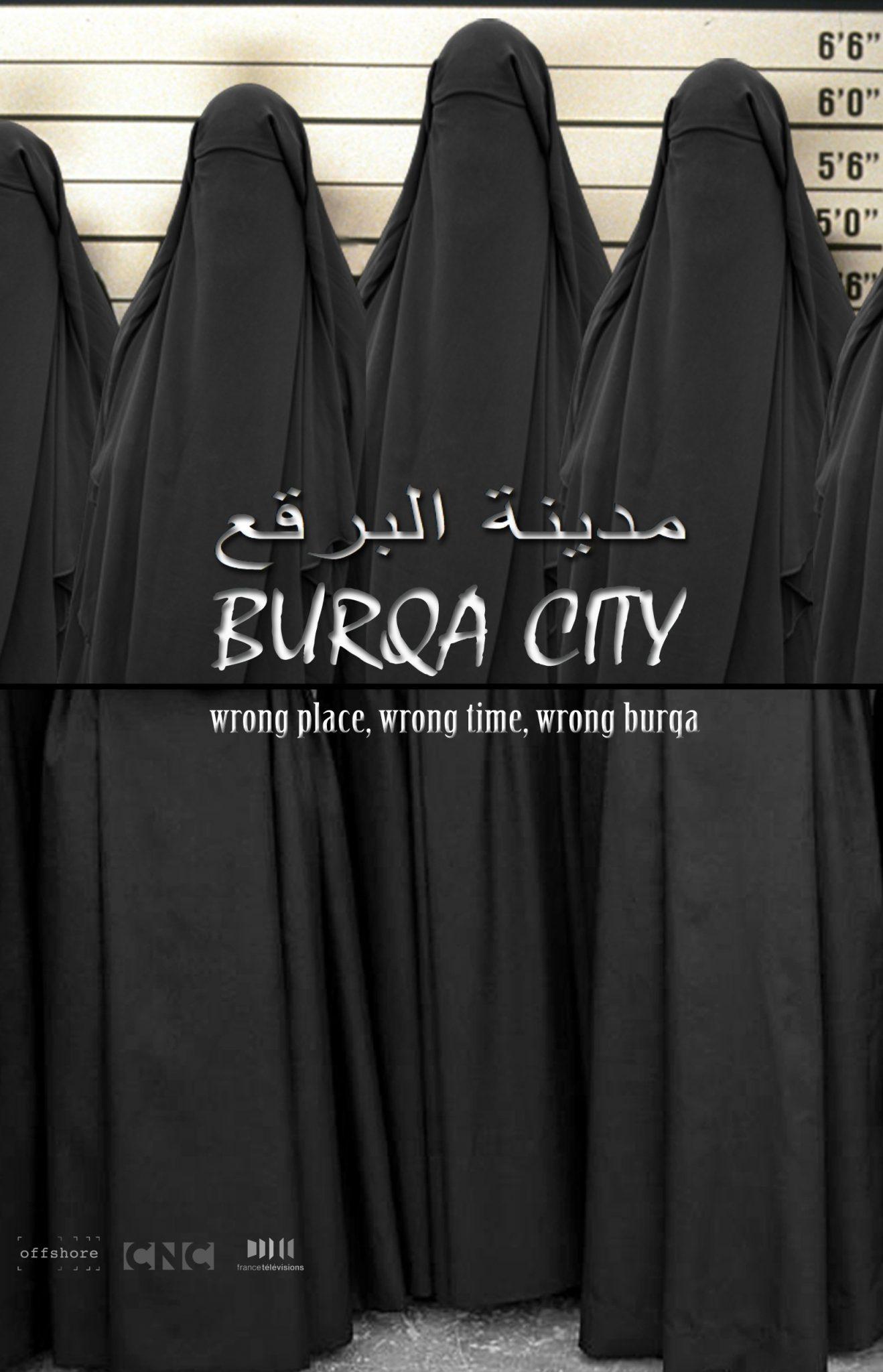 """Cartel de """"Burqa City"""""""
